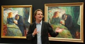 @ystein Ustvedt, Det syke barn utstillingens kurator, Nasjonalmuseet for kunst 2009, foto Tomas Bagackas