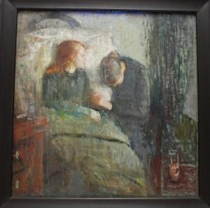 Det syke barn, Maleri av Edvard Munch, Nasjonalmuseet, Oslo