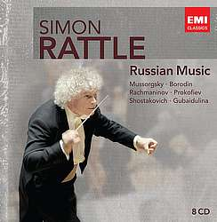 RUSSIAN MUSIC, med Sir SImon Rattle og Berliner Philharmonikerne på EMI