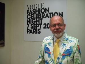 Henning Høholt, editor of www.kulturkompasset.com at VOGUE Fashion Celebration Celebration Night 7  . September 2010 Paris, foto: www.kulturkompasset.com