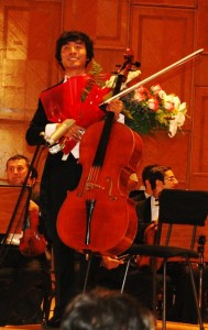 Tian Bonian, (China) 1st prize winner in the Enescu Cello Concours, 2011. Foto Henning Høholt