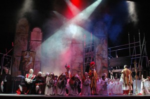 Tosca, end of Act 1.