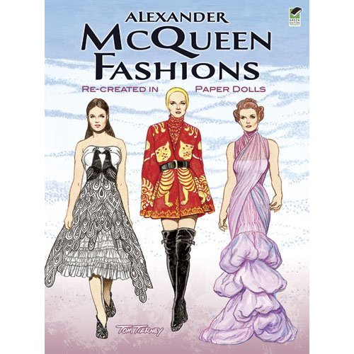 AlexanderMcQueen Fashions  Re-created in Paper Dolls