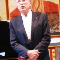 Bjørn Simensen, artistic director of the Kirsten Flagstad Festival wishes  welcome. Foto: Henning HøholtF