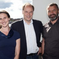 Administrerende direktør Tom Remlov, ballettsjef Ingrid Lorentzen og operasjef Per Boye Hansen.. Foto: Erik Berg