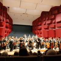 Strassbourg Philharmonic Orchestre with its music chief Marko Letonja at the podium after Schubert/Berio. Photo: Henning Høholt