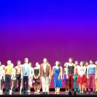 Applaus for West Side Story at Theatre du Chatelet. In the middle from left Andy Jones as Riff. Yanira Marin - Anita, Chriss Behmke - Tony, Jasmina Sakr - Maria and Pepe Muñoz - Bernardo. Foto: Tomas Bagackas.