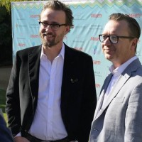 Kon-Tiki directors, from left Joachim Rønning and Espen Sandberg at Varietys 10 Directors to Watch Brunch in Palm Springs 2013. (Photo: Stine Oppegaard, Norwegian Film Institute)