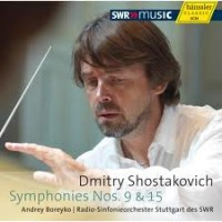 Dmitry Shostakovich Symfoni no 9 and 15. Hänssler Classic new CD.