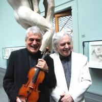 To trofaste samspillere, t.v. Violinvirtuosen Ole Bøhn og klavervirtuosen einar Steen-Nøkleberg konserterer også sommeren 2013 på Vigeland Museet i Oslo. Arkivfoto: Henning Høholt