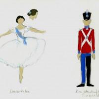 HM dronning Margrethe, Den standhaftige Tinsoldat, kostymeskitser til Danserinden og Tinsoldaten.
