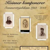 Kvinnelige komponister. Konsertplakat