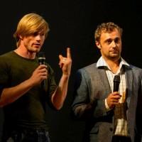 Kristian Støvind (til venstre) sammen med Ballettsjef Slava Samodurov. Han er også koreograf og jobber hardt for at balletten i Yekaterinburg skal være det mest nyskapende av de store klassiske kompaniene i Russland.