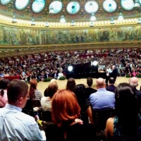 RADU LUPU, Panorama photo from his concert at the beautiful Atheneum concerthall in Bucharest, during the Enescu Festival 2013. Photo: Henning Høholt,