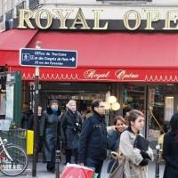 Café Royal Opera, at the corner of Avenue de l´Opera and Rue des Pyramides, Paris. Foto: Henning Høholt, copyrights reserved.