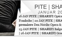 PITE SHARIFI skal ha urpremiere med Carte Blanche på operaen i Dijon, Frankrike 16. Januar. Første norske fremføring blir på Operaen i Oslo, Scene 2,  20. Januar.