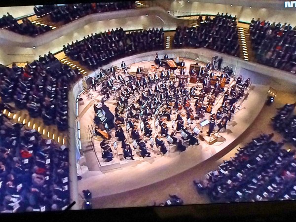 ELB Philharmonie Interior of the concert hall, from NRK 2 this evening, Photo Henning Høholt