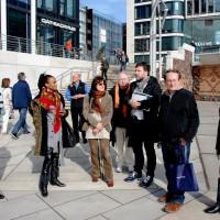 International press on visit by the Elb. Photo Henning Høholt, 2014