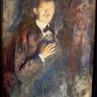 Edvard Munch, selvportrett med sigarett. nå som danseforestsilling med Carte Blanche, I Oslo og på turne. foto Henning Høholt