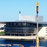 Operaen i København, som i 2015 kan feire 10 årsjubileum, ble åpnet 15. Januar 2005, av HM Dronning Margrethe II. Foto Henning Høholt 2014, fra Admiral Hotel