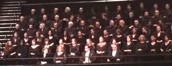 Part of Choeur del Orchestre de Paris and soloists,from left  Lang, Orconásová, Schade, Goerne, 17.6.15. Foto Henning Høholt