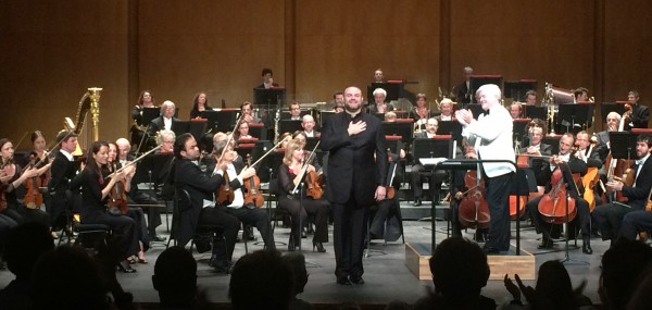 Joseph Calleja and Orchestre National d´Ile-de-France. conductor Andrew Greenwood at Théâtre des Champs Élysées. 19.6.2015. Foto Henning Høholt