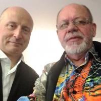 Paavo Järvi and Henning Høholt, after concert 17.6.15, at Philharmonie de Paris.