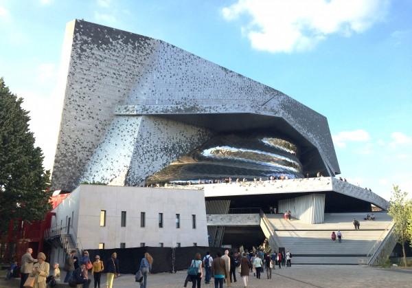 Philharmonie de Paris, seen from Academie de la Musique et Danse at Cité de la Musique, Paris. 17.6.15. Foto Henning Høholt