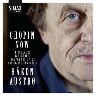 Håkn Austbø, som dene kommende søndag kl. 14. konserterer i VIgeland Museet, har nettopp kommet ut med Chopin på CD fra Simax. i kunsterne spiller han både musikk av Chopin, Grieg, Skriabin og Dbussy