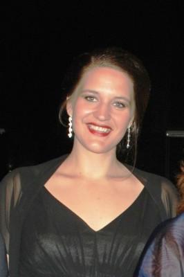 Lise Davidsen på innvielsen av Kirsten Flagstad Salen i Hamar Kulturhus i 2014. Foto Henning-Høholt