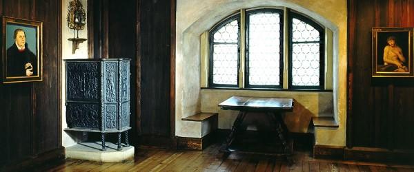Martin Luther rommet. Foto Coburg Turist kontor.