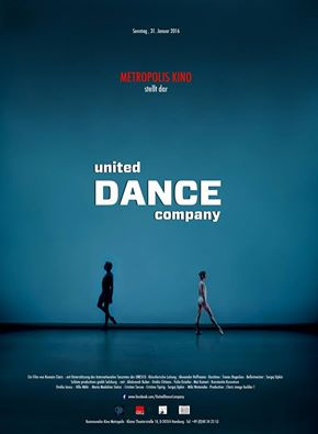 United Dance Compani - the film by Romain Claris, will be performed in Metropolis Kino in Hamburg.