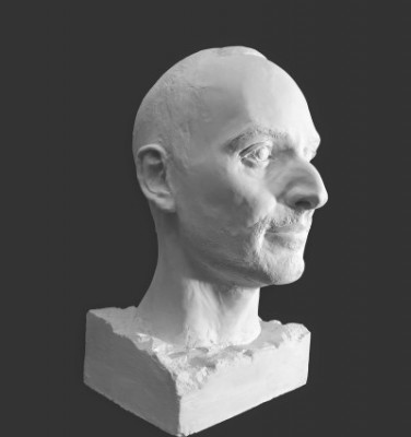Skulptøren Diego Petrillo er representert på Høvikodden med dette flotte mannsansikt. Han er no 82 på listen.