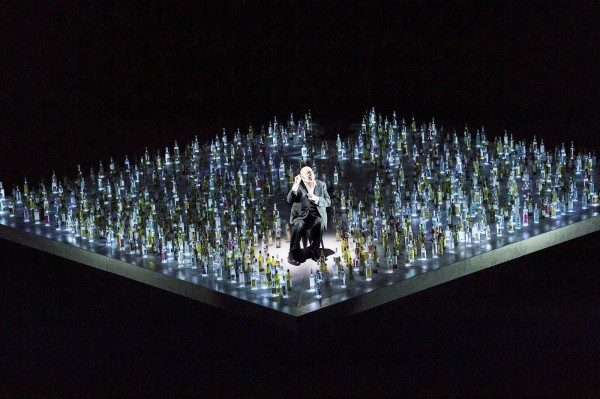 """Regisseur Barrie Kosky has staged Les Contes d´Hoffmann at Komisches Oper, 7th october 2015.- """"Too many bottles - too many premieres at the same time? """" Foto Komisches Opera, Berlin"""