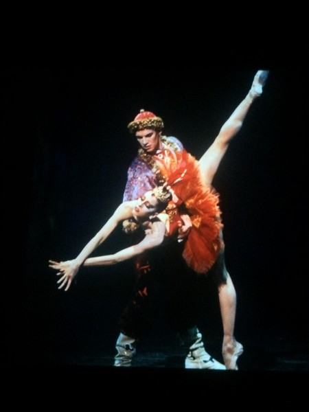 The firebird, foto from video, New York, costumes by Chagall. Foto Henning Høholt