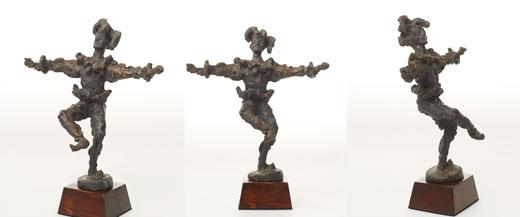 Prisen, som er bronsestatuetten Narren av Nina Sundbye og et stipend på 25 000.