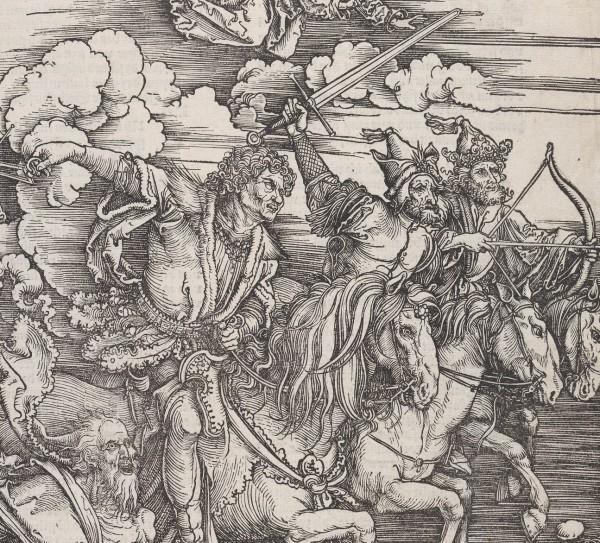 De fire apokalyptiske ryttere, - The Four Horsemen (The Apocalypse), Foto Nasjonalmuseet.