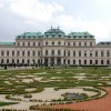 Belvedere, Upper Palace Wien. The plan for the construction of the Upper Belvedere in its current form replaced the primary idea of the construction of a gloriette ''with a beautiful view of the city''. The construction work took place between 1717 and 1723. Foto Henning Høholt