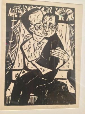 Erich Heckel er en annen av de berømte Die Brücke kunstnerne fra Dresden, som i tillegg til Albrecht Dürer og Rudolf Kirschener er Erick Hechels Sieblings - Søsken, 1913. Foto Henning Høholt
