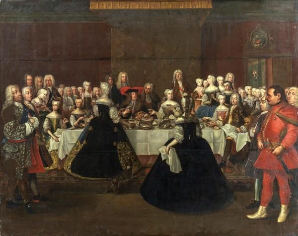 Det store maleri Den tyske kejser Karl VI's taffel har siden 1872 hængt på Fredensborg Slot i H.M. Dronning Margrethe II's private bolig. Maleriet er malet af Johann Salomon Wahl i 1741.