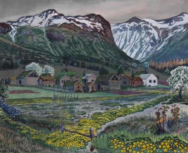 Nicolay Astrup, Soleienatt, ca. 1915, Nasjonalmuseet, foto Dag A. Ivarsøy