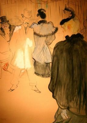 Toulouse-Lautrec. La Goulue and  Paul Lescau,1894