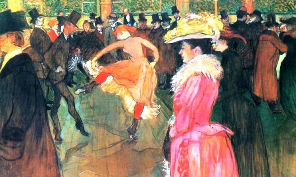 Henri de Toulouse-Lautrec, a dancing scene from Montmartre