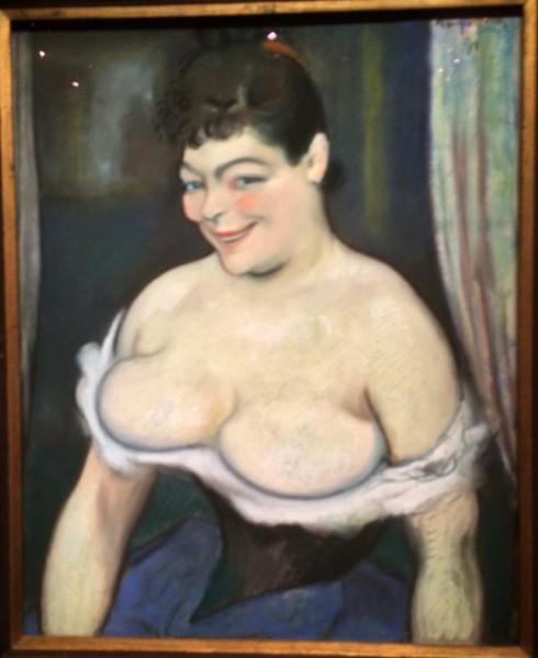 Louis Anquetin, Portrait of a woman, (Marguerite Defay?) , Foto Henning Høholt