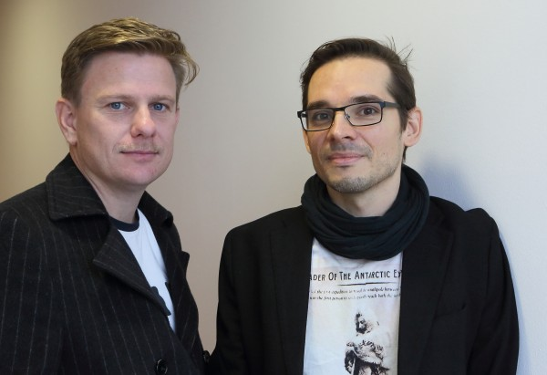 South Pole, World premiere 31.1.2016 at Bayerisches Staats Oper by:  Miroslav Srnka (left) composer and Tom Holloway (right) libretto. Foto:  W. Hösl