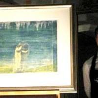 Tresnittet - Mot skogen - oppnådde god pris på Munch-auksonen hos Grev Wedels Palass Auksjoner. FOTO SYNNØVE NORD