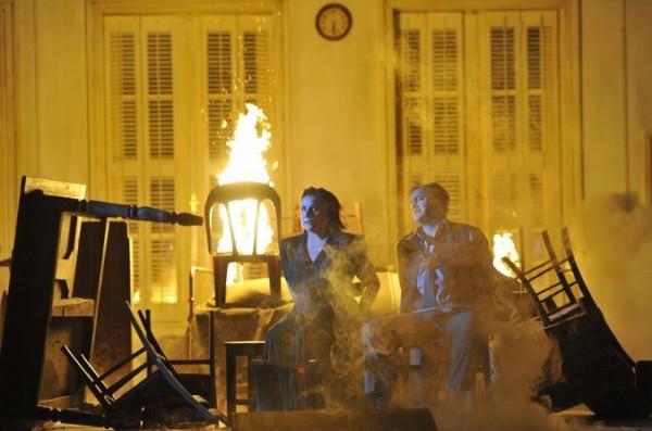The odd couple finding eternal love through sacrificial deathfire. Foto: Salzburg Festival.