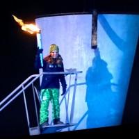Prinsesse Ingrid Aleksandra står klar til å tenne den Olympiske Ild for YUngdoms OL i Lillehammer. En liten kuriositet, Faklen er den samme som hennes far Kronprins Håkon brukte  for 24 år siden. Foto Henning Høholt