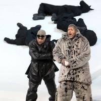 left Rolando Villazon, and Thomas Hampson as Amundsen (right)