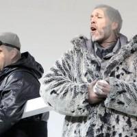 South Pole, Rolando  Villain (left) as Scott,  and Thomas Hampson as Amundsen. Foto Bayerisches Staatsoper.